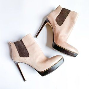 Michael Kors Leather Meadow Ankle Boots